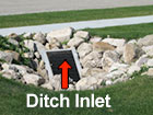Ditch inlet