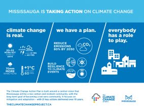 Infographic about City of Mississauga's Climate Change Action Plan