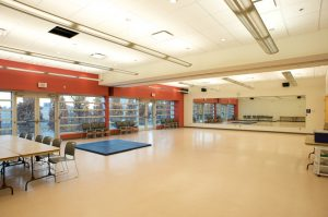 Interior of empty fitness room