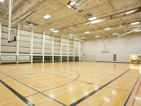 Interior of empty gym