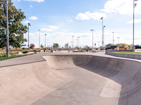 View of skateboard park in the daytime